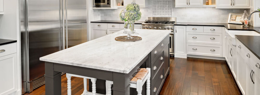 kitchen s carrara white of size particleboard cost marble countertop cabinets full