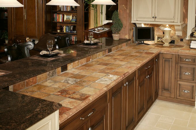 2018 tile countertop costs countertop prices for Porcelain countertops cost