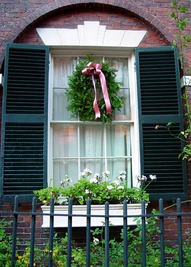 hang a wreath in your window