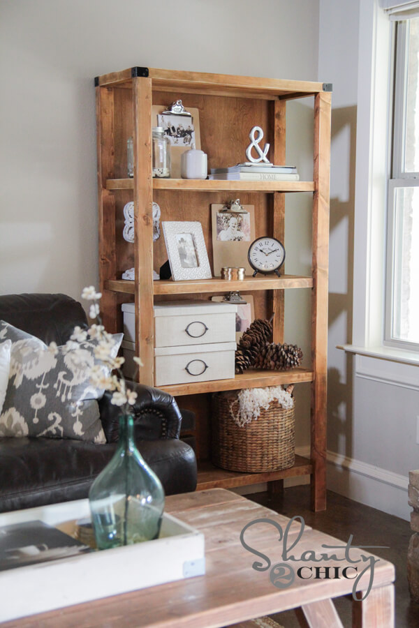 DIY Pottery Barn Bookcase