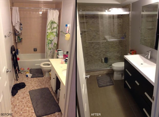 Small Bathroom Before And After.My Small Bathroom Remodel Recap Costs Designs More
