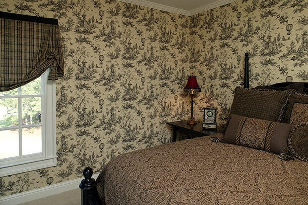 Wallpaper Wall Coverings How To Wallpaper Over Wood Paneling