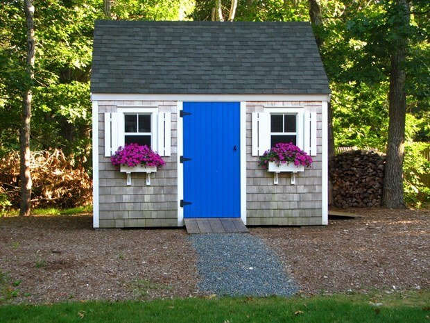Make Your Shed A Backyard Focal Point Backyard Shed Ideas