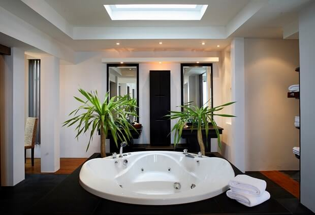 Interior How To Decorate Your Bathroom to decorate your bathroom using black white how white