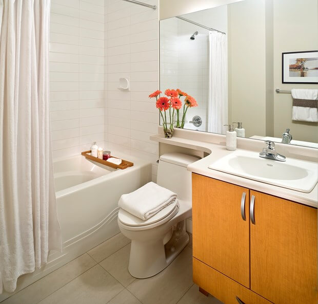 7 awesome layouts that will make your small bathroom more for Small 4 piece bathroom designs