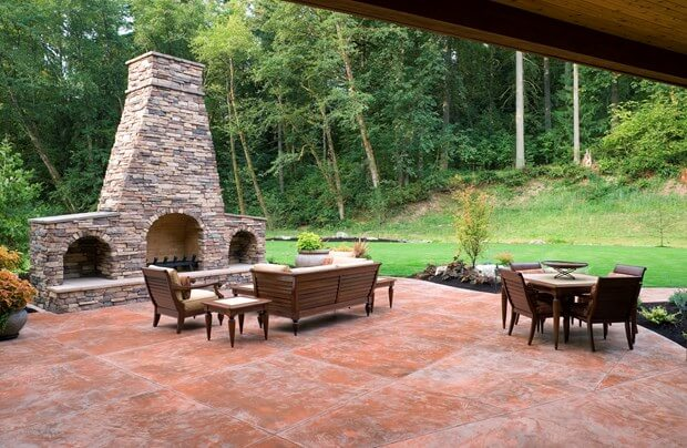 Lovely Stamped Concrete Patio Cost