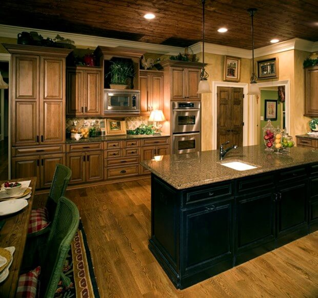 The 5 most popular granite colors for your kitchen countertops for Granite colors for black cabinets