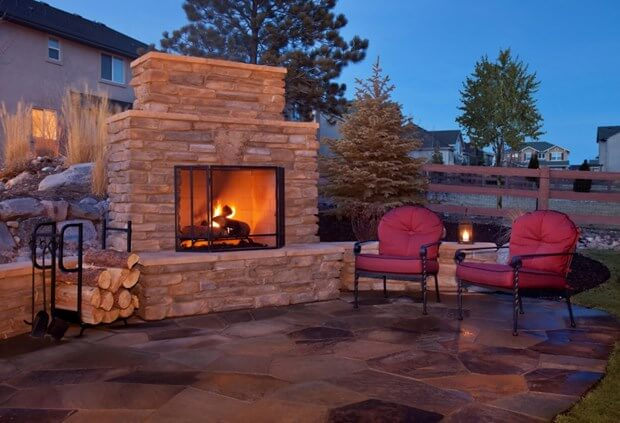 A backyard fireplace is sure to create a more welcoming yard. Dreaming of a warm