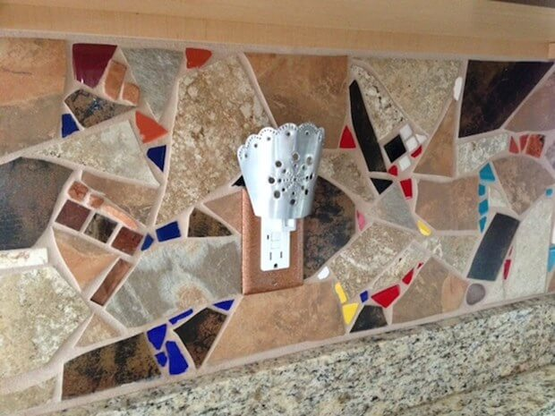 Before After Photos Creative Backsplash - Mosaic-backsplash-creative