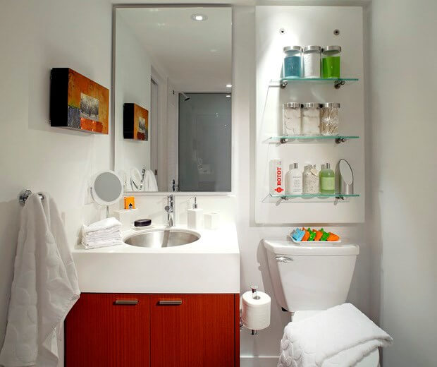 6 Bathroom Ideas for Small Bathrooms | Small Bathroom Designs on design ideas for wooden letters, design ideas for small kitchens, design ideas for small decks, design ideas for small windows, design ideas for closets, design ideas for small home, design ideas for small basements, design ideas for small offices, design ideas for small yards, design ideas for wet bars, design ideas for kitchen cabinets, design ideas for small porches, design ideas for small bedrooms, design ideas for living rooms,
