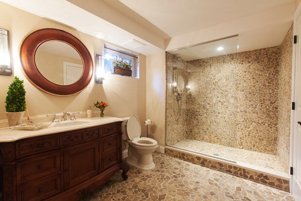 Basement bathroom design bathroom plumbing for Bathroom pumps for basements
