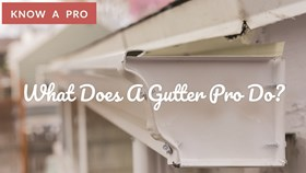 Video: What Does A Gutter Contractor Do?