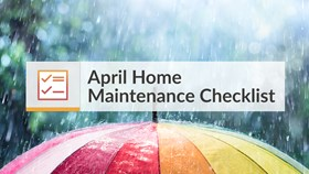 April Home Maintenance Checklist