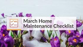 March Home Maintenance Checklist