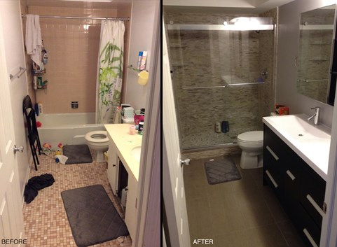 My small bathroom remodel recap costs designs more - Before and after small bathroom remodels ...