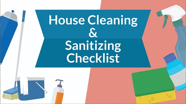 House Cleaning Amp Sanitizing Checklist Coronavirus Cleaning Tips