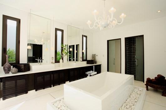 a modern bathroom makeover
