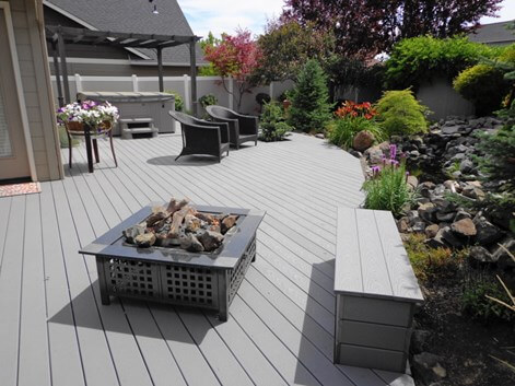 Trex decking prices advantages trex costs deck prices - Exterior house painting cost per square foot ...