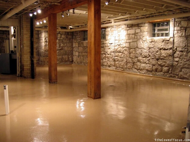 How To Paint A Basement Floor Diy Painting