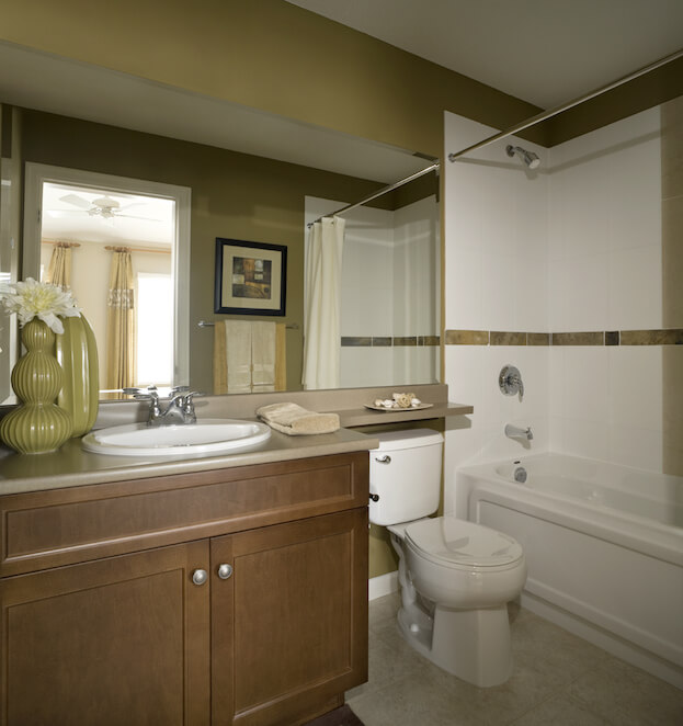 10 Painting Tips To Make Your Small Bathroom Seem Larger: 2 color bathroom paint ideas