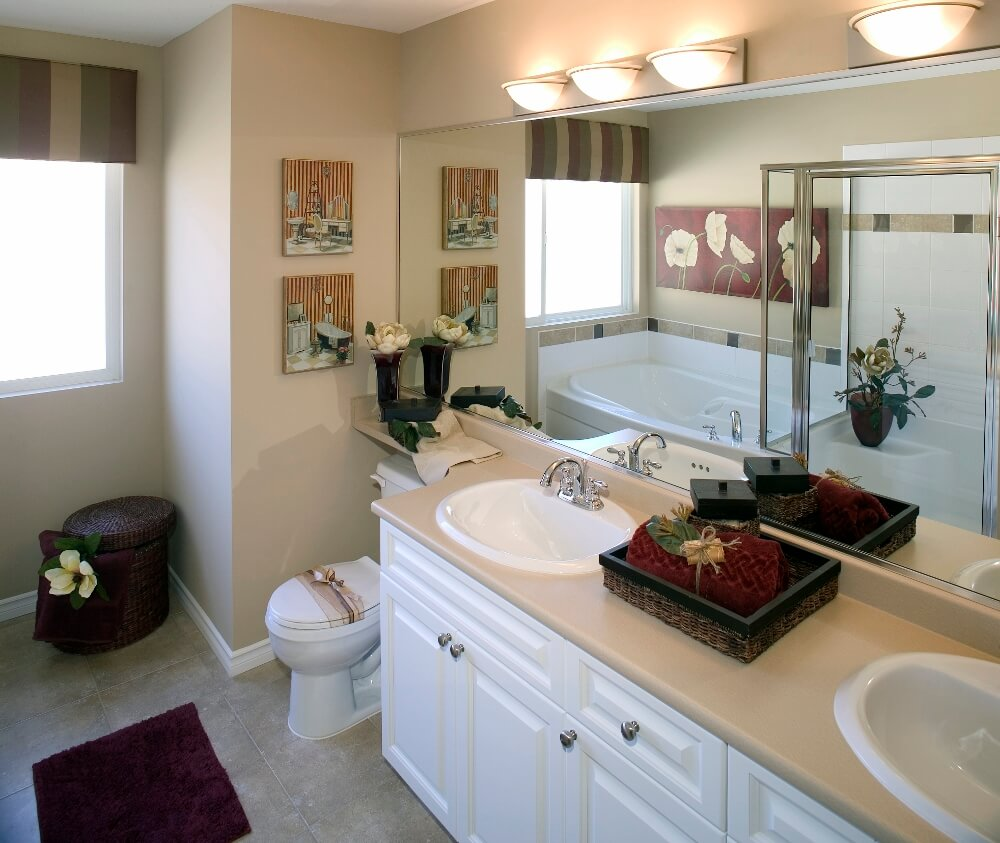 Guest bathroom ideas guest bathroom decorating ideas small guest bathroom for Small bathroom countertop ideas