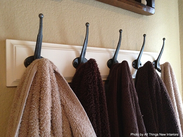 Small Bath Storage - Coat Hooks