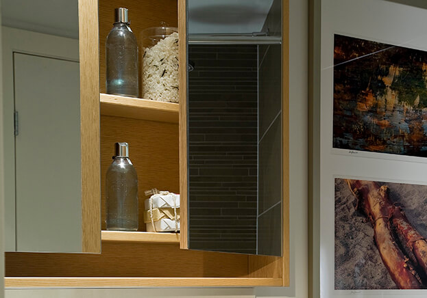 Small Bath Storage - Mirrored Medicine Cabinet