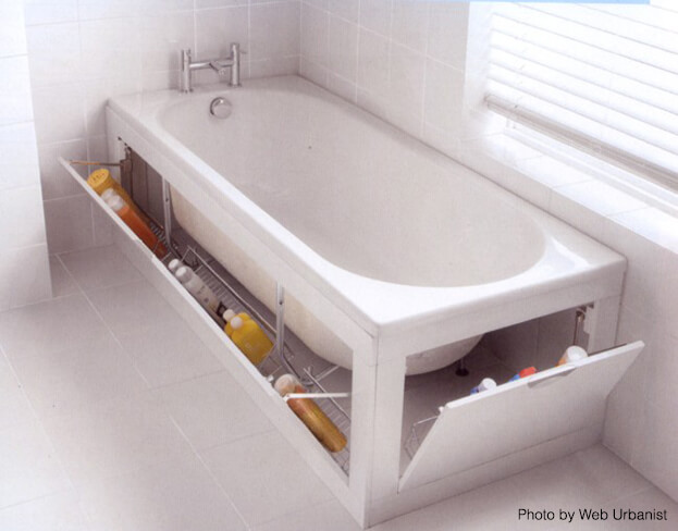 Small Bath Storage - Tub Storage