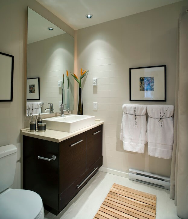 Charming Small Bathroom: Modern