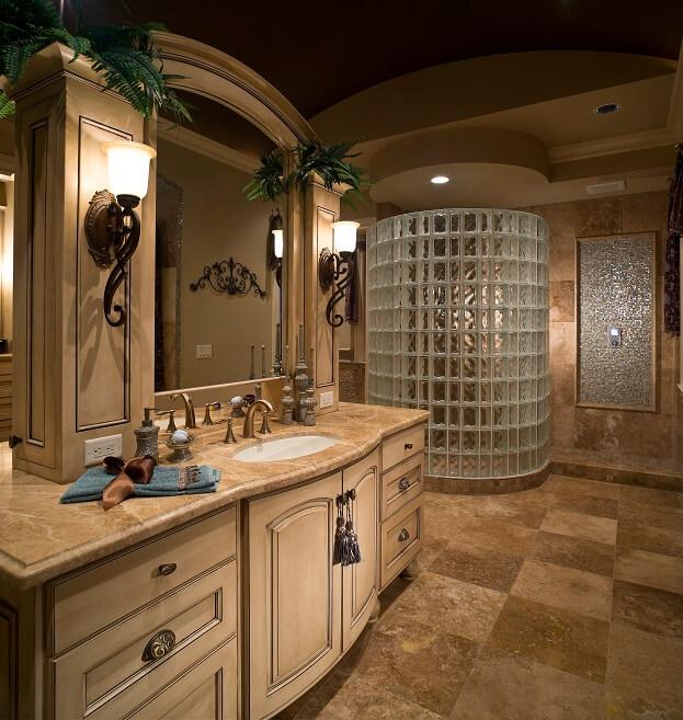Bathroom Vanity Design Ideas Bathroom Remodeling - Venetian bronze bathroom light fixtures for bathroom decor ideas