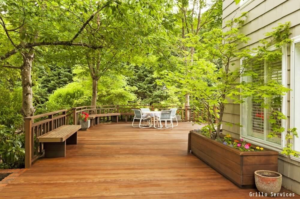 Outdoor Wooden Deck