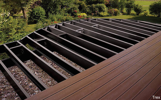 Trex decking prices advantages trex costs deck prices for How much does composite decking weigh