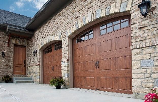2019 Wood Garage Doors Prices | Wood Garage Door Cost Clopay Custom Reserve Double Garage Door Design Redwood W Teak on