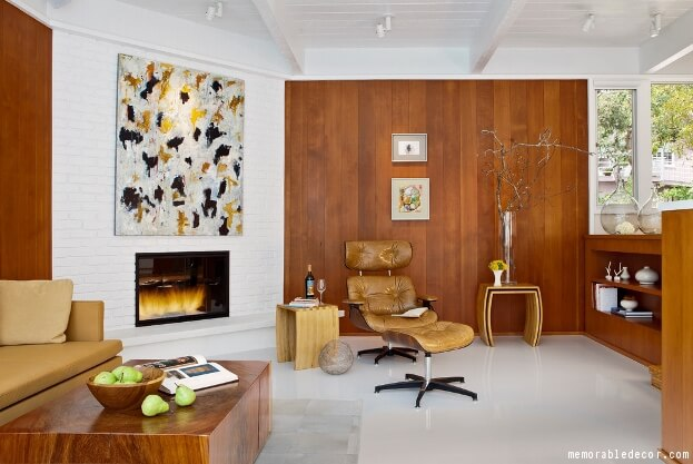 White Fireplace And Wood