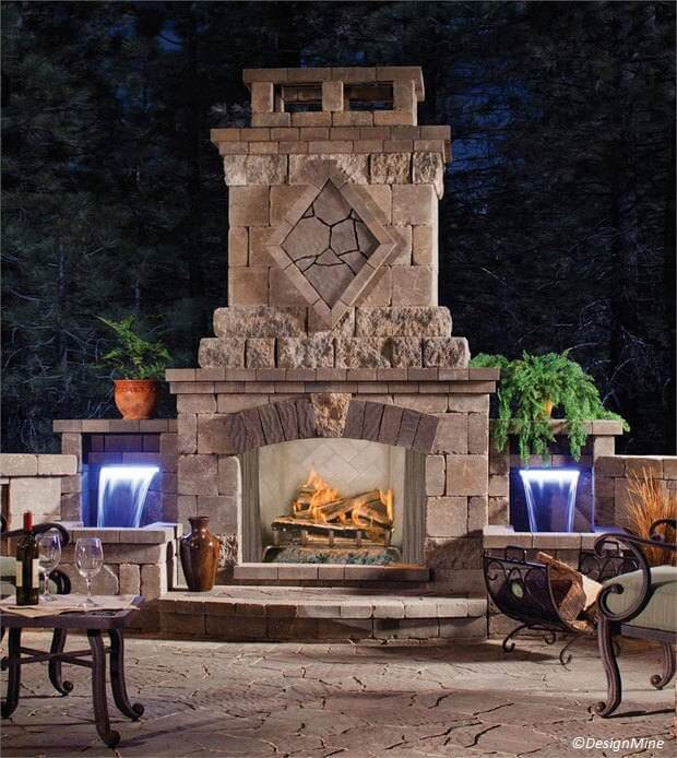 3 ways to warm up your outdoor events fireplace costs for Cost of outdoor living space