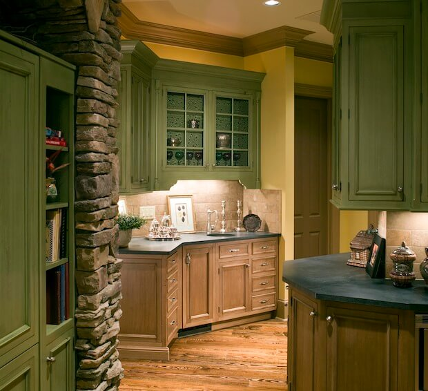 Green Kitchen Units Sage Green Paint Colors For Kitchen: Wood Flooring Types & Prices