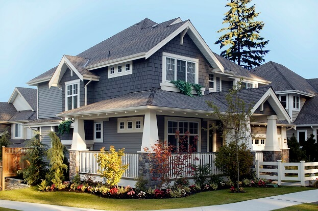 blue - Exterior House Colors Grey