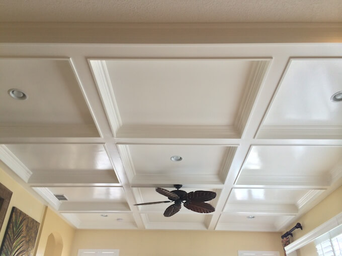 Coffered Ceiling For The Cleaner Room