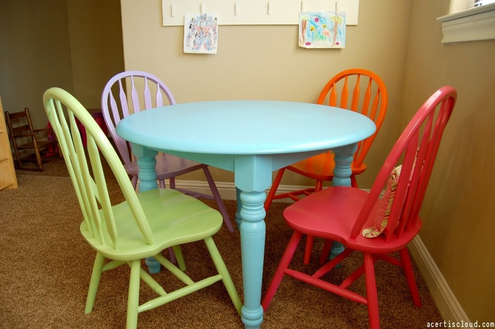 How to paint your kitchen table chairs diy paint picking the best table paint watchthetrailerfo