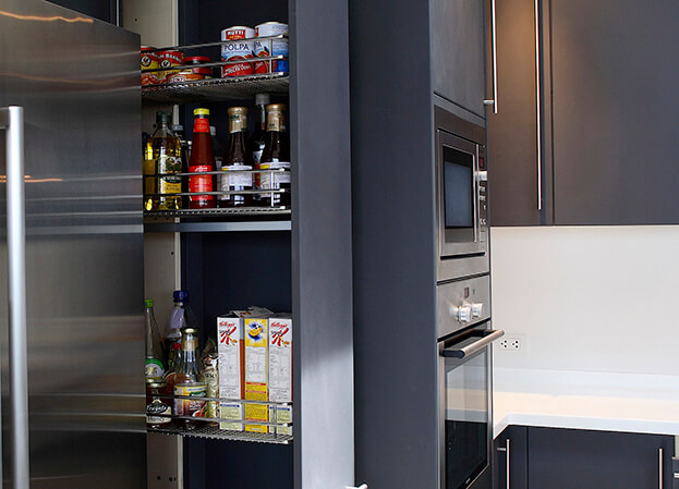 Small Kitchen Storage Slideout Pantry