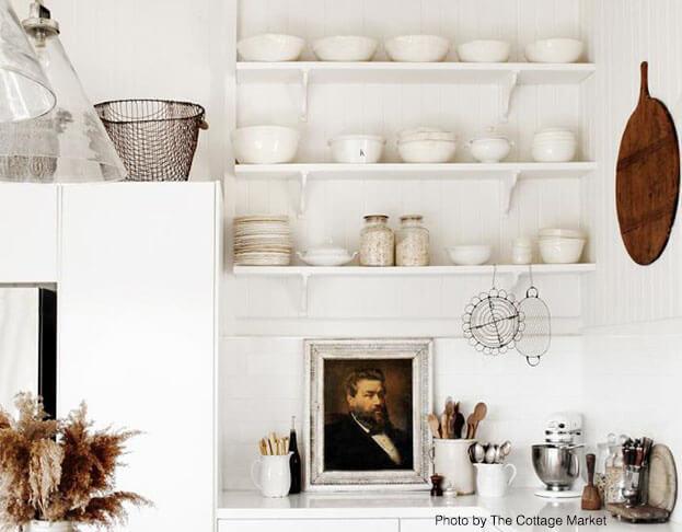 Small Kitchens Shelves