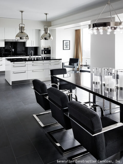How To Decorate Your Kitchen Using Black & White