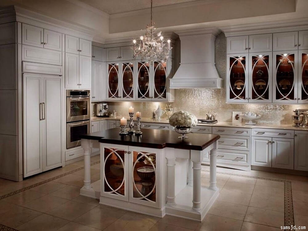 glass front kitchen cabinets an alternative to wood glass front cabinets kitchen 15866