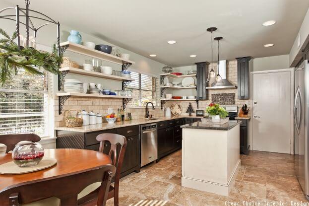 Open Shelving Kitchen | Kitchen Cabinet Ideas
