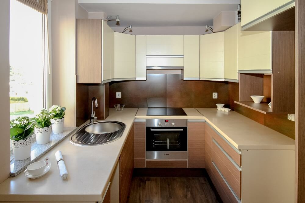 How to clean kitchen countertops clean kitchen for Sala comedor kitchenette