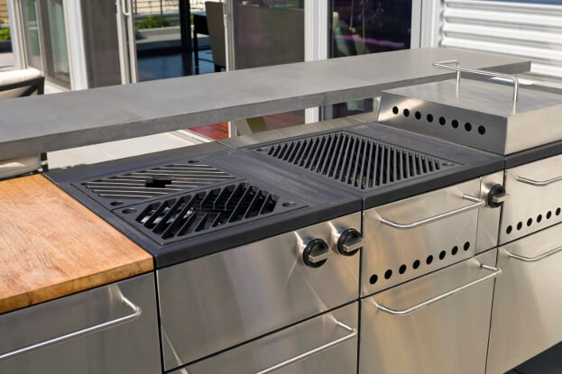 Medium image of outdoor kitchen appliances