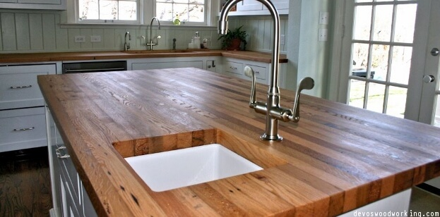 Elegant Reclaimed Wood Countertops