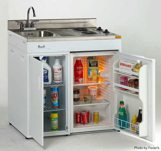 Compact Kitchen Appliances   Stove Sink Fridge