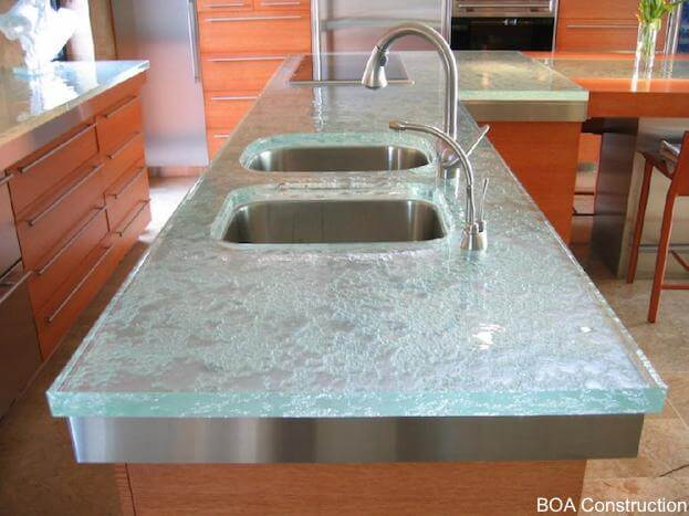 How To Make Crushed Gl Countertops