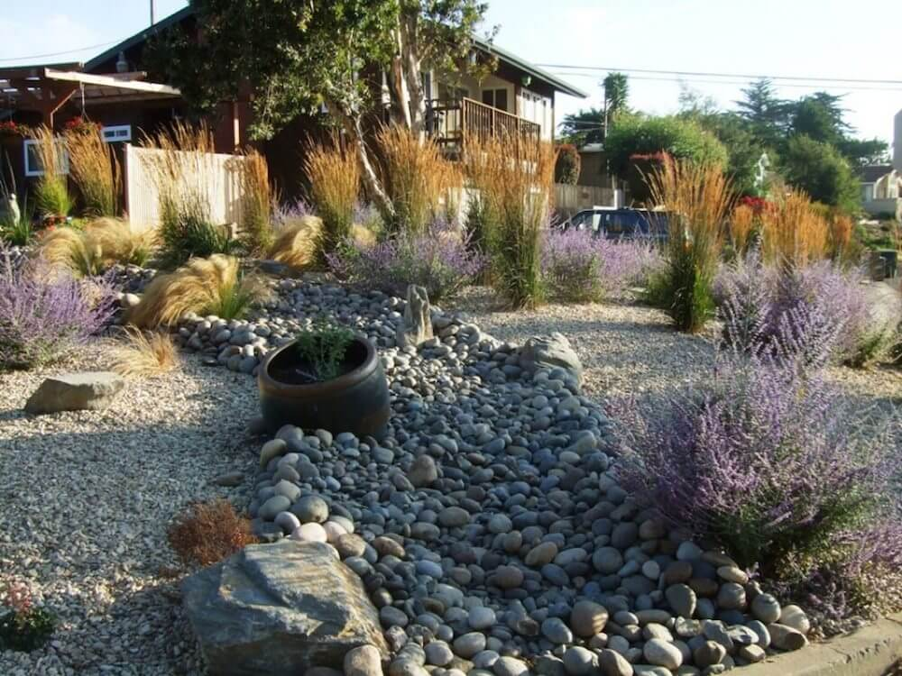 2018 river rock landscaping prices average river rock for How much to landscape a backyard